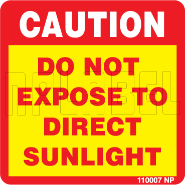 110007 Do Not Expose To Direct Sunlight Labels