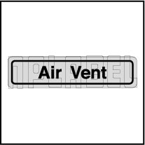 120011B Air Vent Sticker