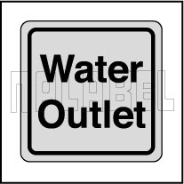 120011CS Water Outlet Stickers