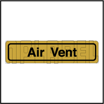 120011BG Air Vent Sticker