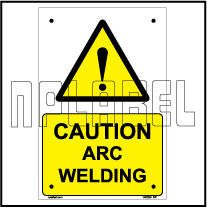 140030 Caution Arc Welding Name Plates