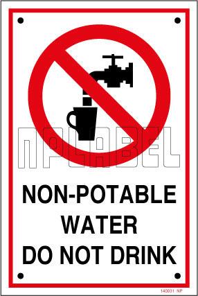 140031 Non Potable Water Sign Name Plates