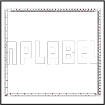 140375-78 Measuring Scale 0-300mm / 0-12 inch
