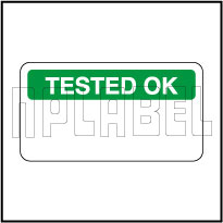 140379 Tested Ok Stickers & Labels