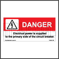 140541M Danger Electrical Power Stickers & Labels