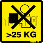 140544 Max Weight 25 KG Sticker