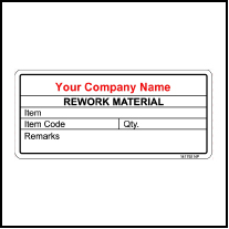 141792 Rework Material Sticker