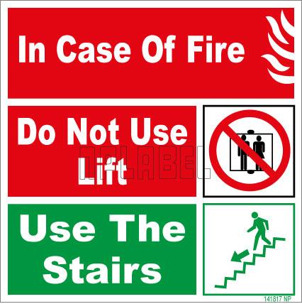 141817 Fire Instruction sticker