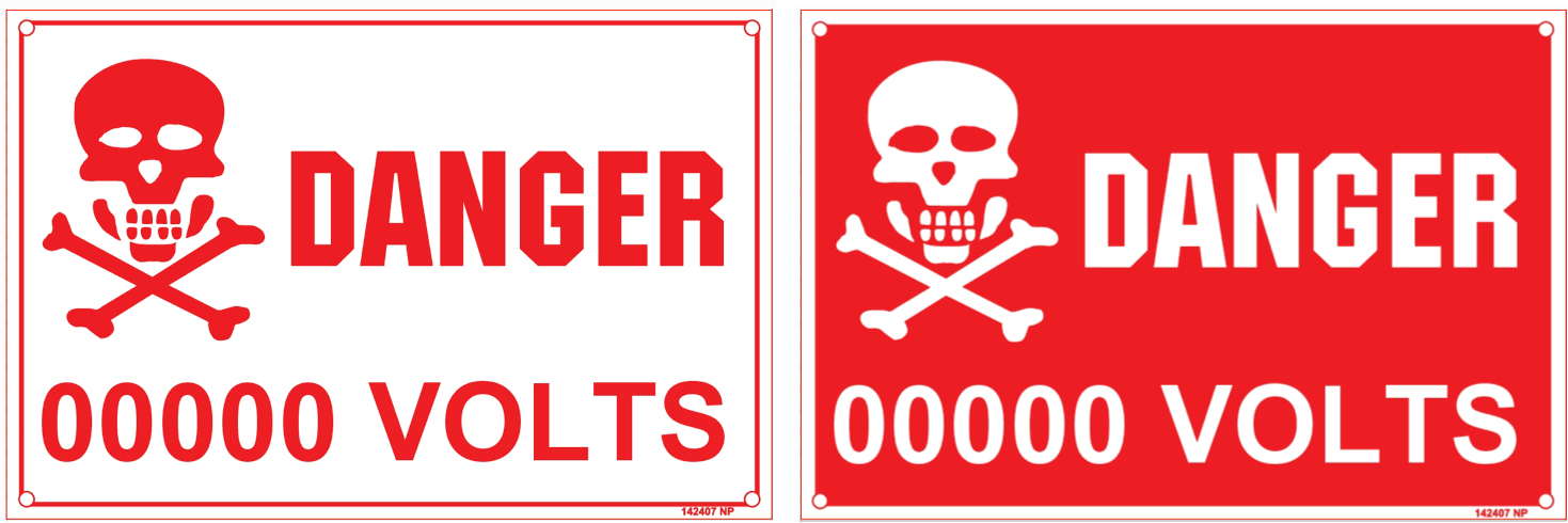 142407 Danger Voltage Indication Stickers