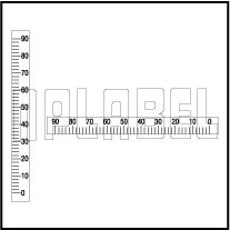 142422 Measuring Scale Sticker 90-0mm