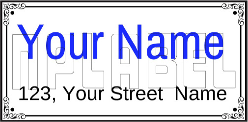 142713 Customize House Name Plate