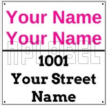 142715 Customize Name Plate