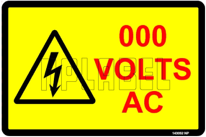 143052 Customize Voltage Sign Label