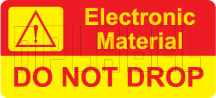 150453 Caution Stickers for Electronic Material