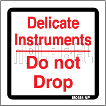 150454 Caution - Delicate - Do Not Drop Labels