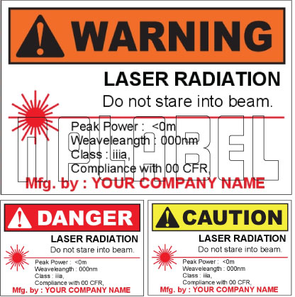 150581 Customize Laser Radiation Labels