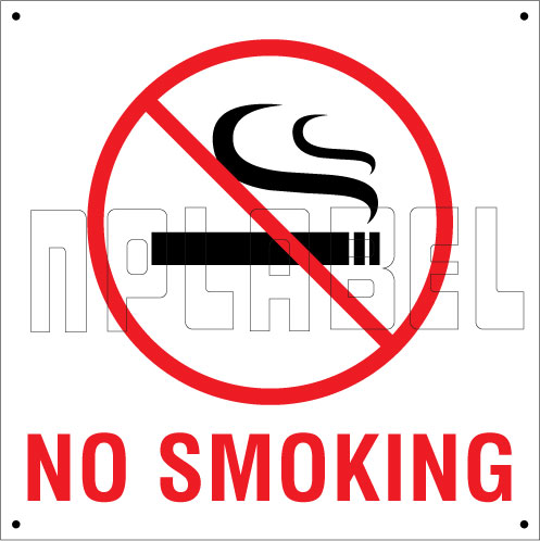 151038 No Smoking Sign Board