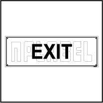 151046 Exit Sign Name Plates