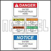 151106ML Customize Safety Caution Metal Labels