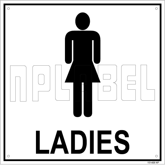 151408 Ladies Toilet Sign Name Plate