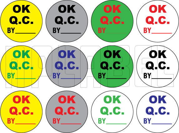 151412 Ok QC Round Sticker