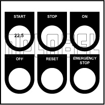 500718LP Push Button & LED Labels