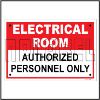 152333 Electrical Room Sign Stickers
