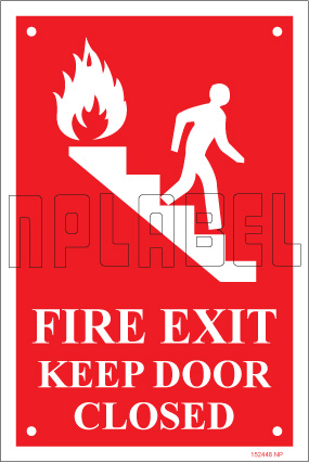 152448 Fire Exit Name Plates & Signs