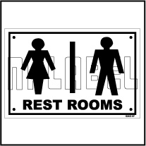 152450 Rest Room Sign Name Plates & Signs
