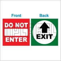 152536ML Exit/Do not Enter Sticker Label