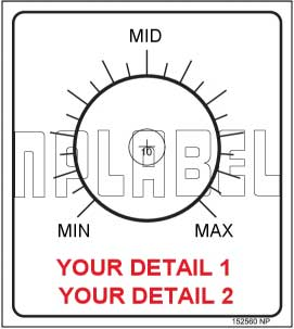 152560ML Customize Potentiometer Label