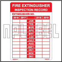 153228 Fire Extinguisher Inspection Record Sticker