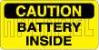 153290 Danger - Battery Inside Label