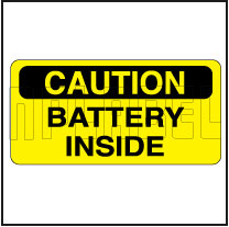 153290 Danger - Battery Inside Label
