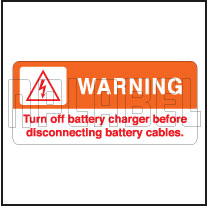 153292 Turn Off Battery Charger Stickers & Labels