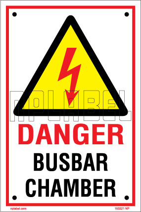 153321 Busbar Chamber Sign Name Plate