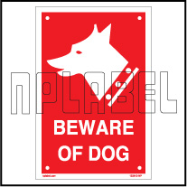 153610 Beware Of The Dog Labels & Signs