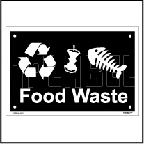 153622 Food Waste Dustbin Label