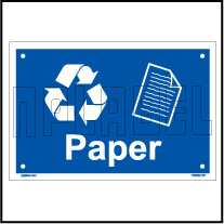 153624 Paper Waste Dustbin Label