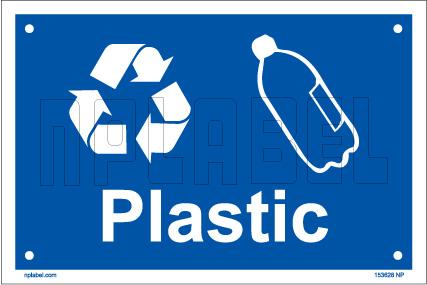153629 Glass Waste Dustbin Label