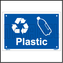 153628 Plastic Waste Dustbin Label