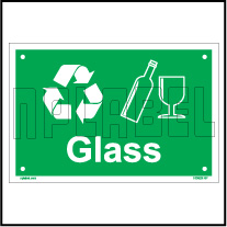 153629 Glass Waste Dustbin Label