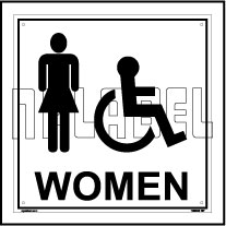 160006 Women Toilets Sign Name Plate