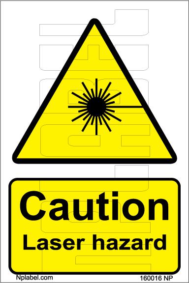 160016 CUATION Laser Hazard Stickers