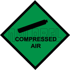 160031 Compressed Air Stickers