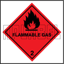 160034 Flammable Gas Stickers