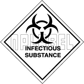 160039 INFECTIOUS SUBSTANCE Signs Stickers