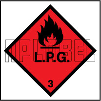 160040 L.P.G. Signs Stickers