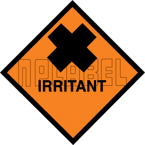 160048 IRRITANT Signs Stickers