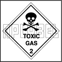 160049 Toxic Gas Stickers